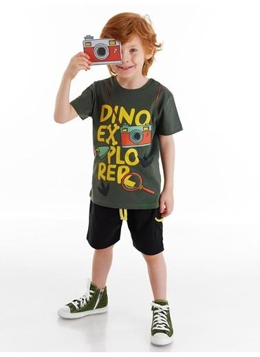 Denokids Dino Explorer Erkek Çocuk Şort Takım Renkli